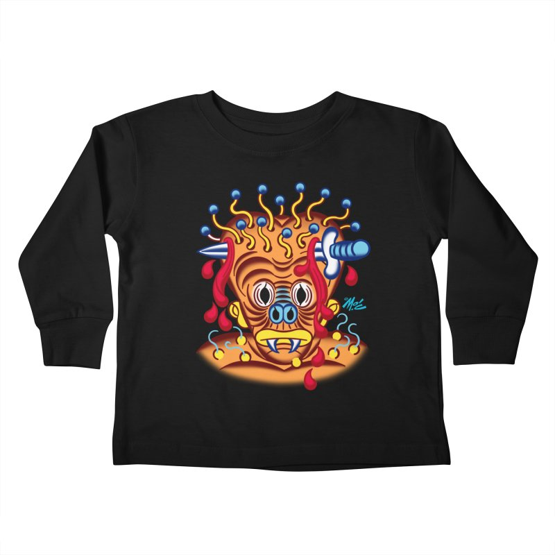 """'Leave it to Beaver' Monster Shirt! """"Whitey"""" version! Kids Toddler Longsleeve T-Shirt by Mitch O'Connell"""