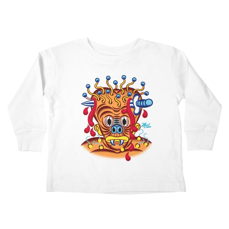 "'Leave it to Beaver' Monster Shirt! ""Whitey"" version! Kids Toddler Longsleeve T-Shirt by Mitch O'Connell"