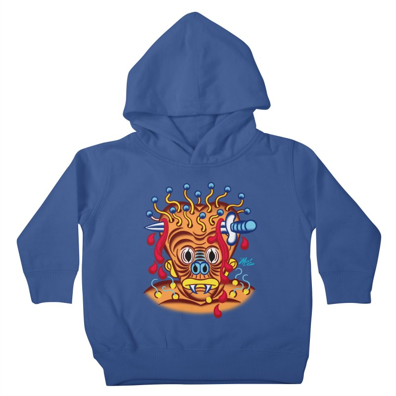 """'Leave it to Beaver' Monster Shirt! """"Whitey"""" version! Kids Toddler Pullover Hoody by Mitch O'Connell"""