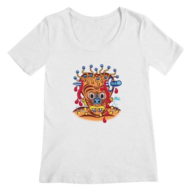 "'Leave it to Beaver' Monster Shirt! ""Whitey"" version! Women's Regular Scoop Neck by Mitch O'Connell"