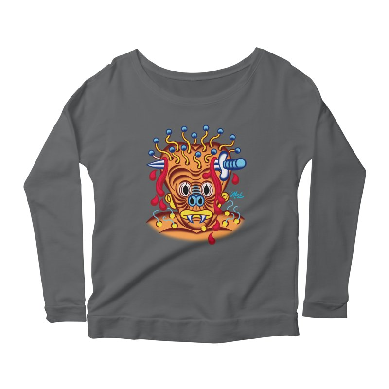 """'Leave it to Beaver' Monster Shirt! """"Whitey"""" version! Women's Longsleeve T-Shirt by Mitch O'Connell"""