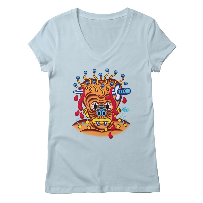 "'Leave it to Beaver' Monster Shirt! ""Whitey"" version! Women's Regular V-Neck by Mitch O'Connell"