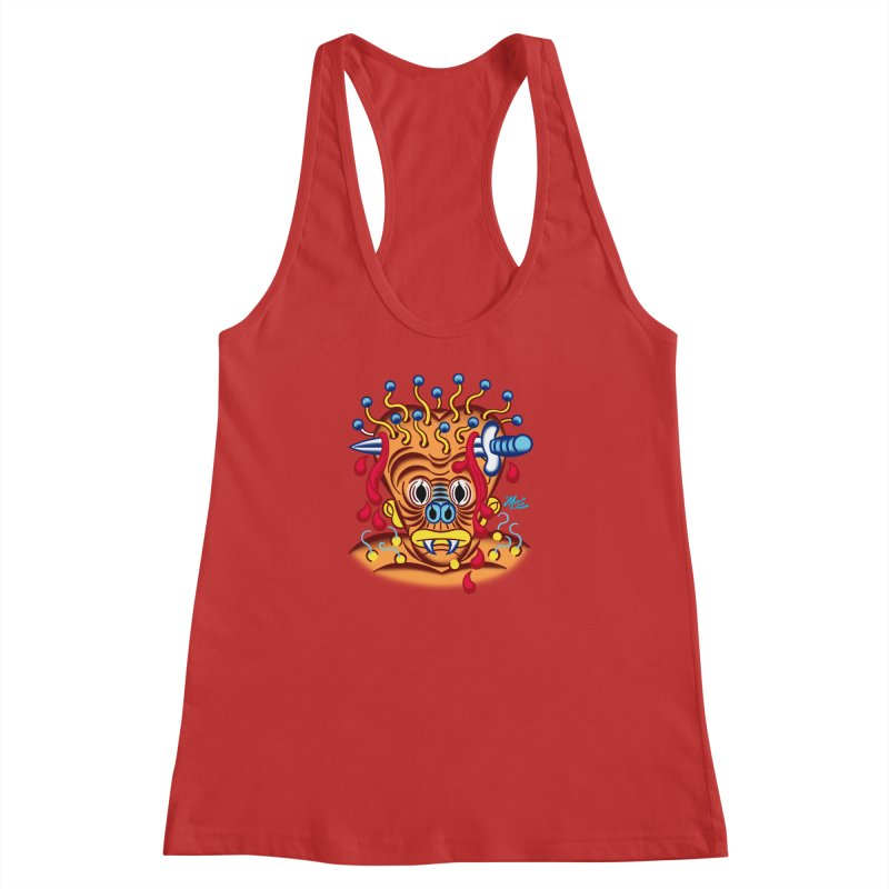 """'Leave it to Beaver' Monster Shirt! """"Whitey"""" version! Women's Racerback Tank by Mitch O'Connell"""