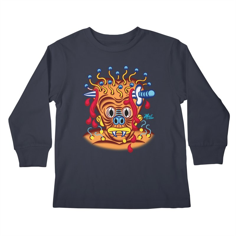 "'Leave it to Beaver' Monster Shirt! ""Whitey"" version! Kids Longsleeve T-Shirt by Mitch O'Connell"