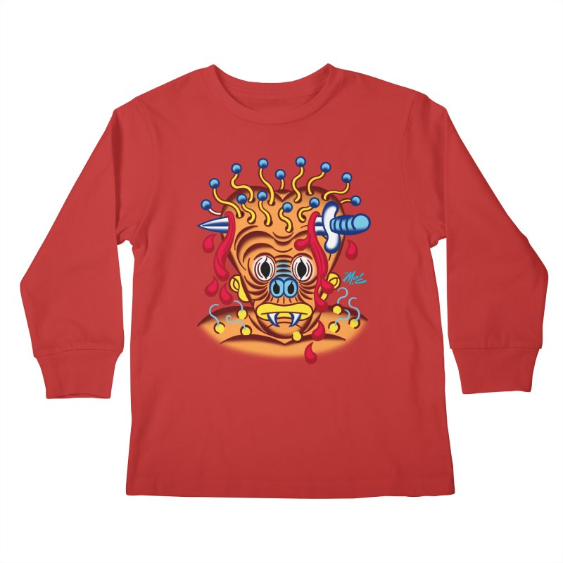 """'Leave it to Beaver' Monster Shirt! """"Whitey"""" version! Kids Longsleeve T-Shirt by Mitch O'Connell"""