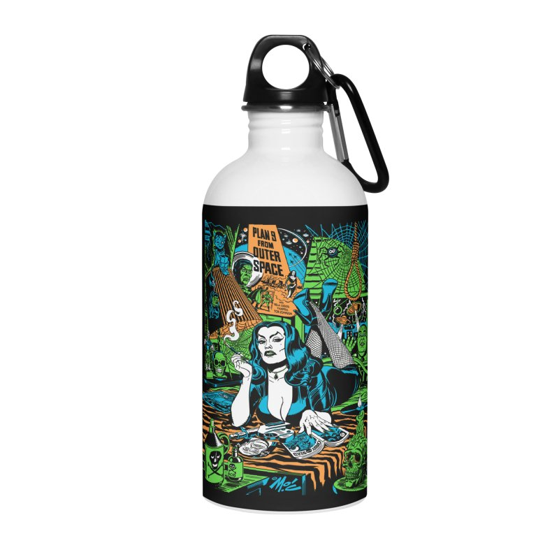Plan 9 Pulp Fiction! Accessories Water Bottle by Mitch O'Connell