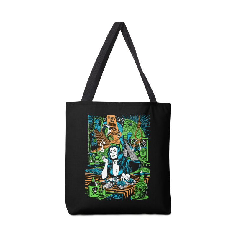Plan 9 Pulp Fiction! Accessories Tote Bag Bag by Mitch O'Connell