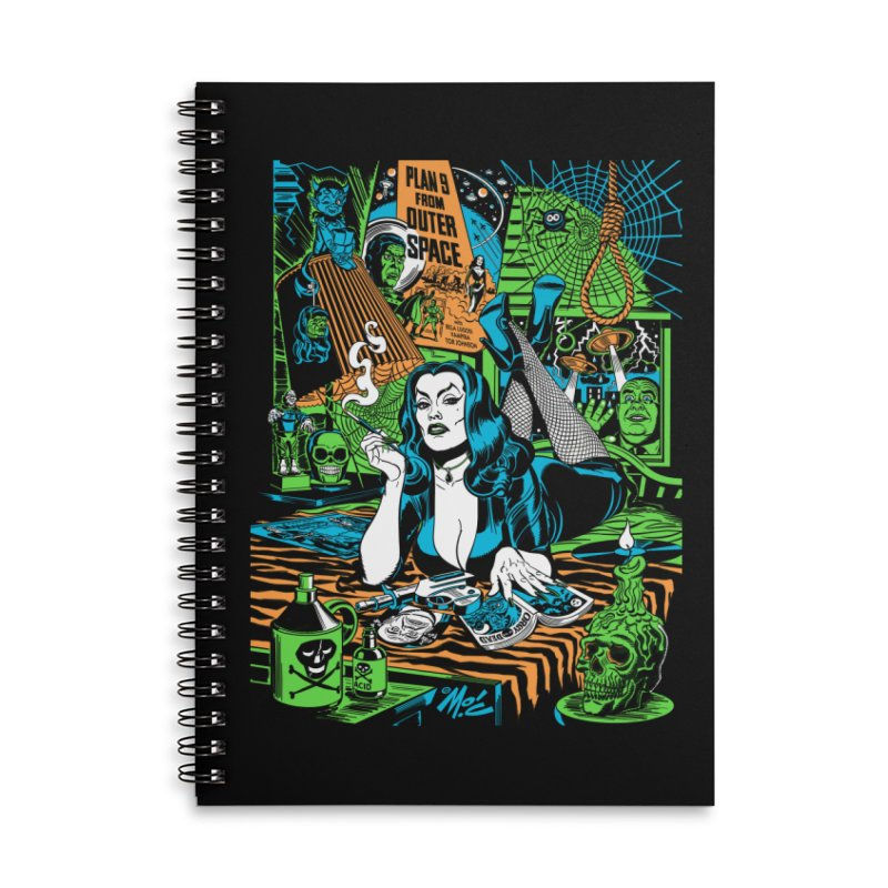 Plan 9 Pulp Fiction! Accessories Lined Spiral Notebook by Mitch O'Connell