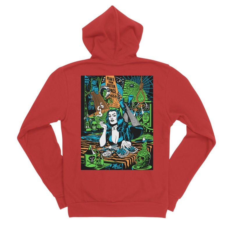 Plan 9 Pulp Fiction! Women's Zip-Up Hoody by Mitch O'Connell