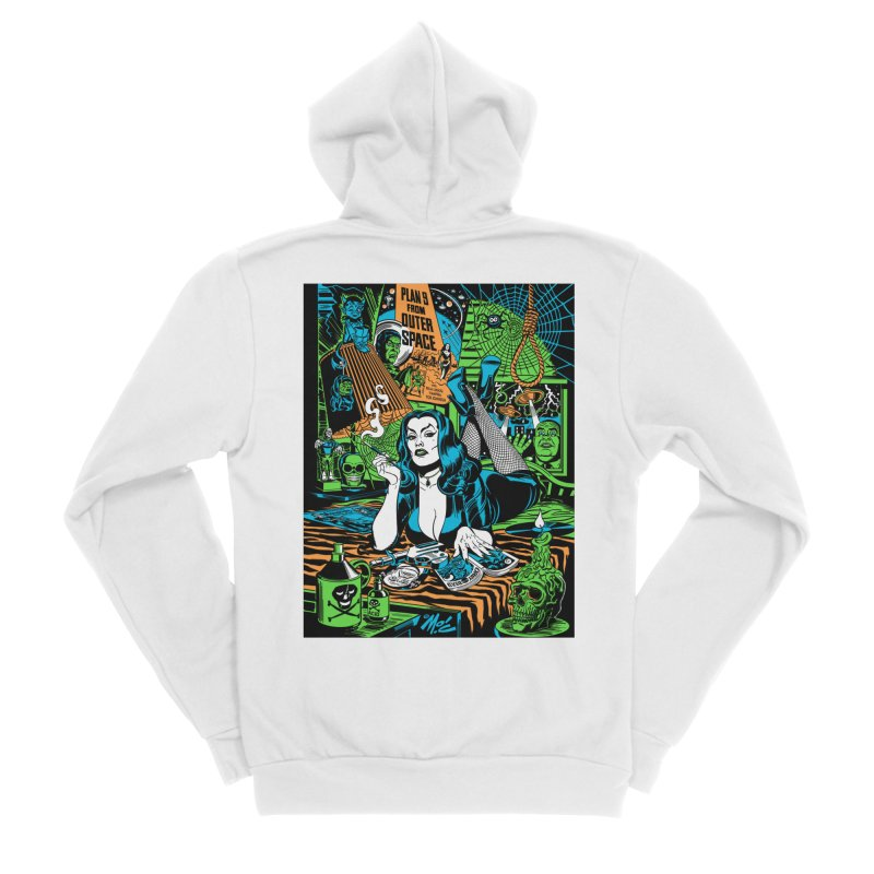 Plan 9 Pulp Fiction! Women's Sponge Fleece Zip-Up Hoody by Mitch O'Connell