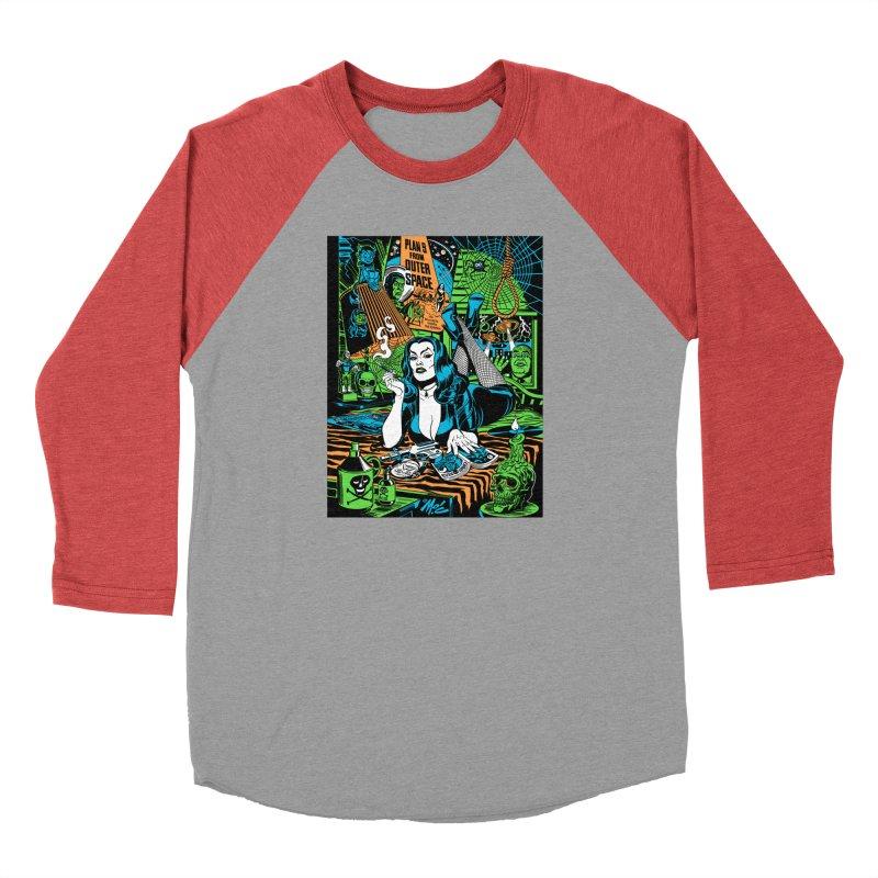Plan 9 Pulp Fiction! Women's Baseball Triblend Longsleeve T-Shirt by Mitch O'Connell