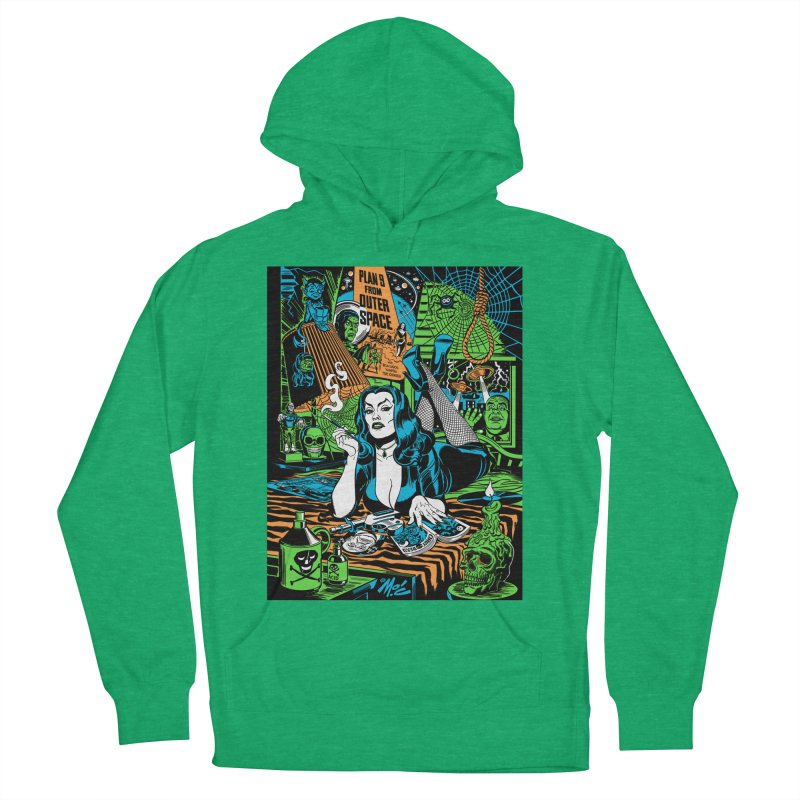 Plan 9 Pulp Fiction! Women's French Terry Pullover Hoody by Mitch O'Connell