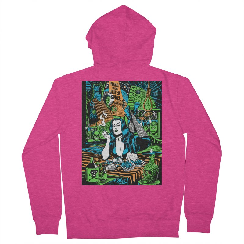 Plan 9 Pulp Fiction! Women's French Terry Zip-Up Hoody by Mitch O'Connell