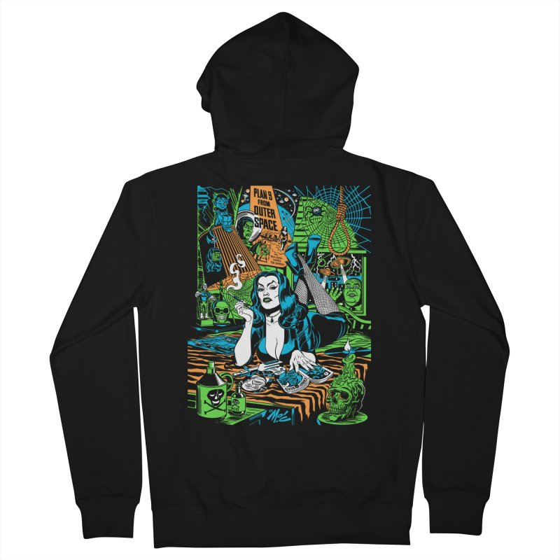 Plan 9 Pulp Fiction! Men's French Terry Zip-Up Hoody by Mitch O'Connell