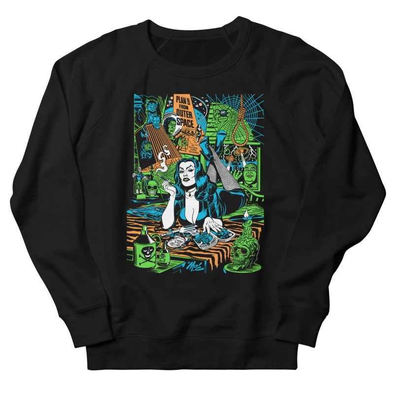 Plan 9 Pulp Fiction! Women's French Terry Sweatshirt by Mitch O'Connell