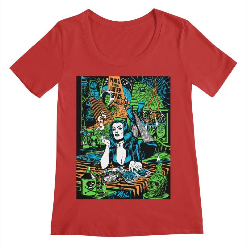Plan 9 Pulp Fiction! Women's Regular Scoop Neck by Mitch O'Connell