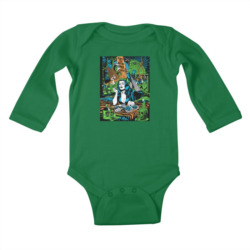 Plan 9 Pulp Fiction! Kids Baby Longsleeve Bodysuit by Mitch O'Connell