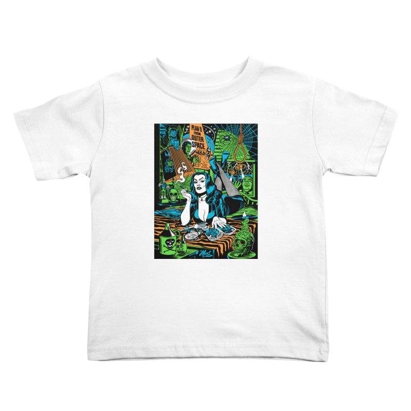 Plan 9 Pulp Fiction! Kids Toddler T-Shirt by Mitch O'Connell