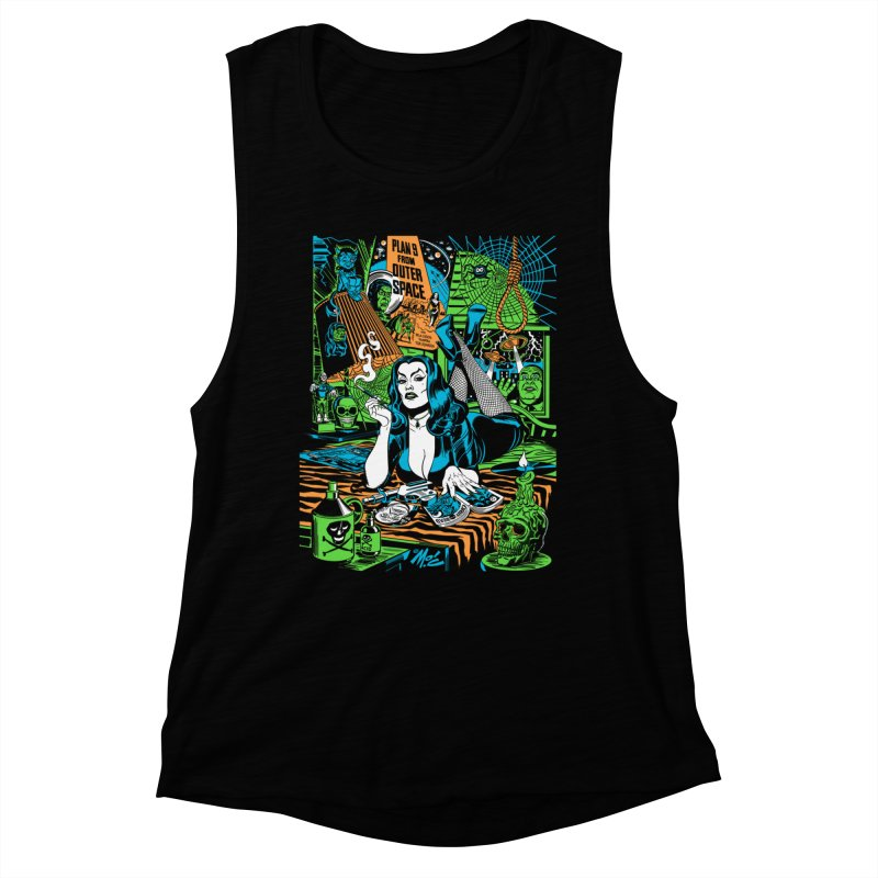 Plan 9 Pulp Fiction! Women's Muscle Tank by Mitch O'Connell
