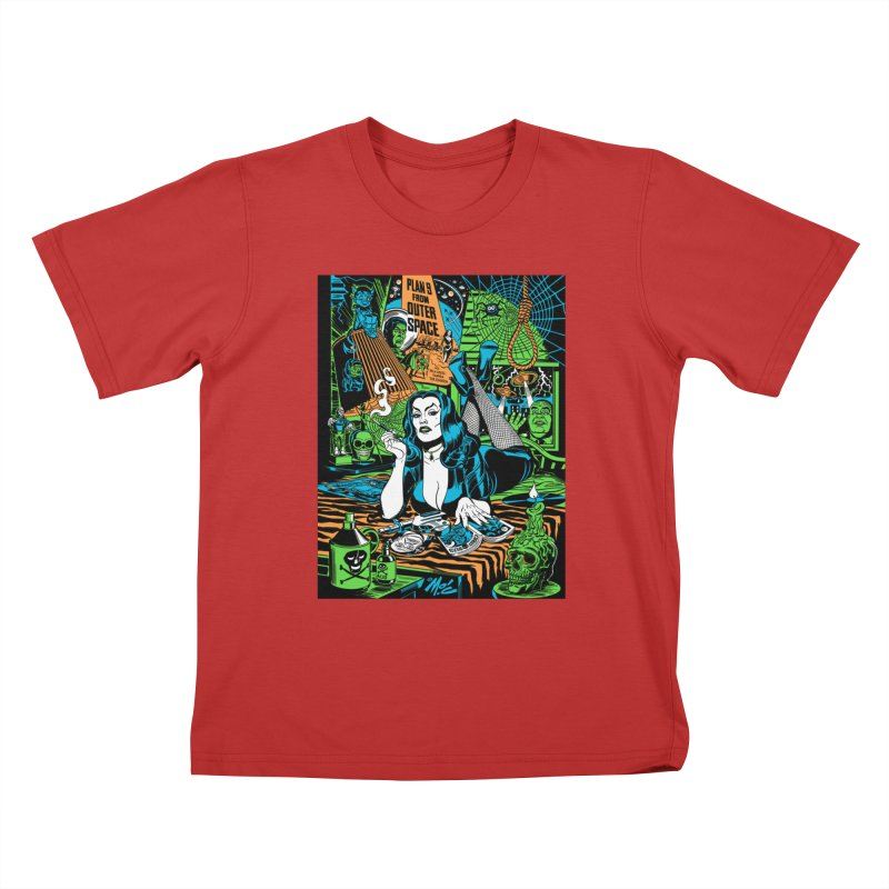 Plan 9 Pulp Fiction! Kids T-Shirt by Mitch O'Connell