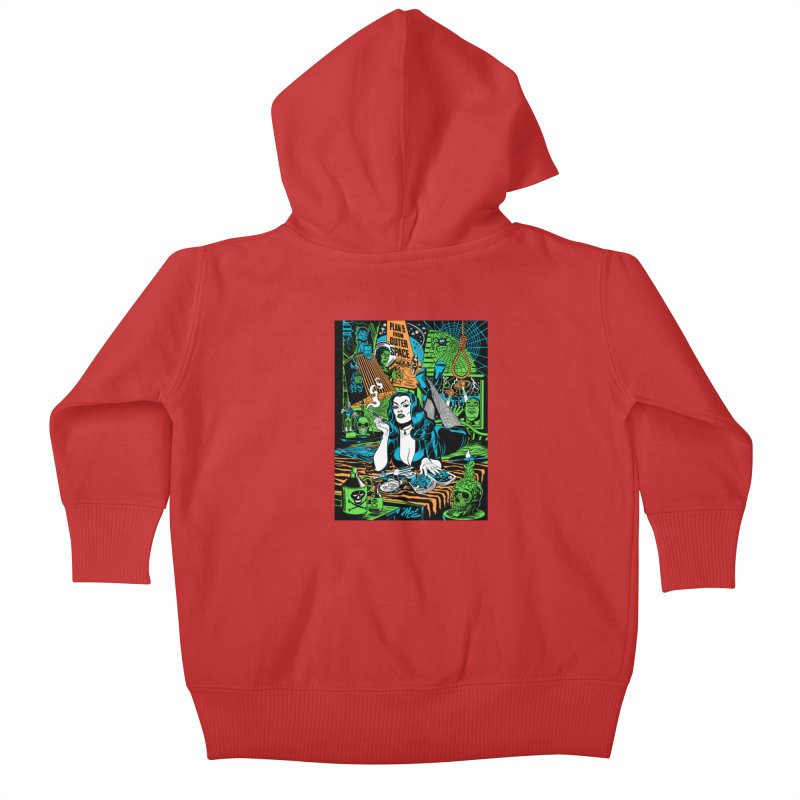 Plan 9 Pulp Fiction! Kids Baby Zip-Up Hoody by Mitch O'Connell