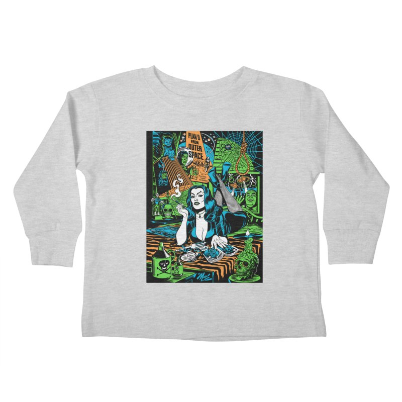 Plan 9 Pulp Fiction! Kids Toddler Longsleeve T-Shirt by Mitch O'Connell