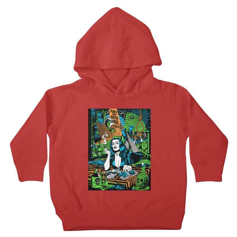 Plan 9 Pulp Fiction! Kids Toddler Pullover Hoody by Mitch O'Connell