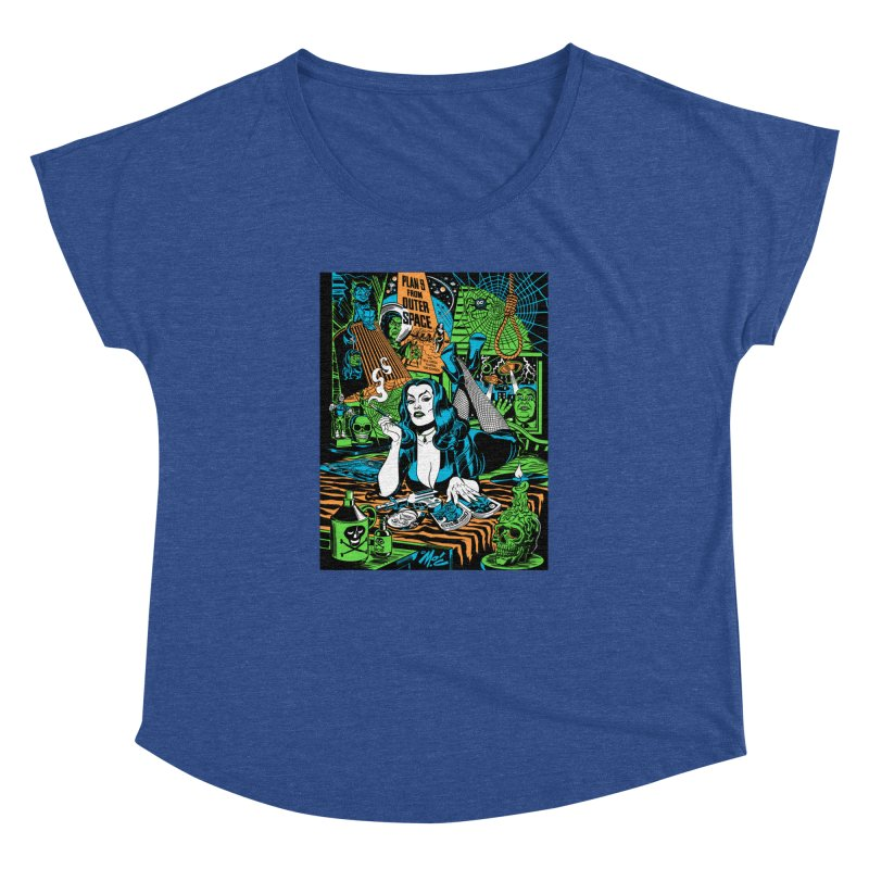 Plan 9 Pulp Fiction! Women's Dolman Scoop Neck by Mitch O'Connell