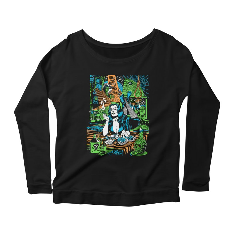 Plan 9 Pulp Fiction! Women's Scoop Neck Longsleeve T-Shirt by Mitch O'Connell