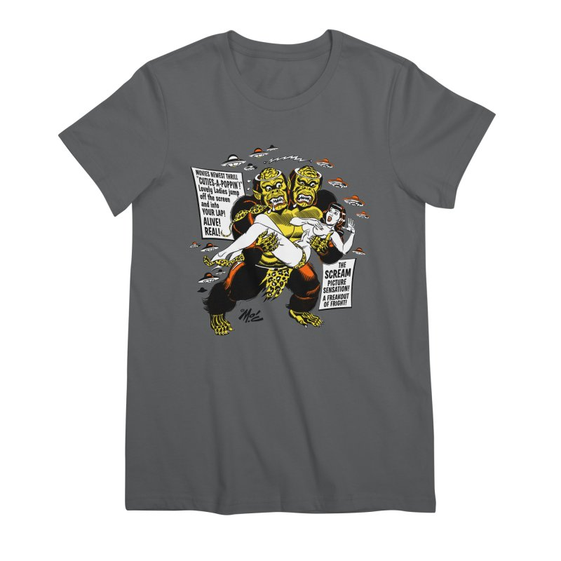 ALIVE! REAL! Women's Premium T-Shirt by Mitch O'Connell