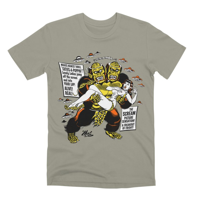 ALIVE! REAL! Men's Premium T-Shirt by Mitch O'Connell