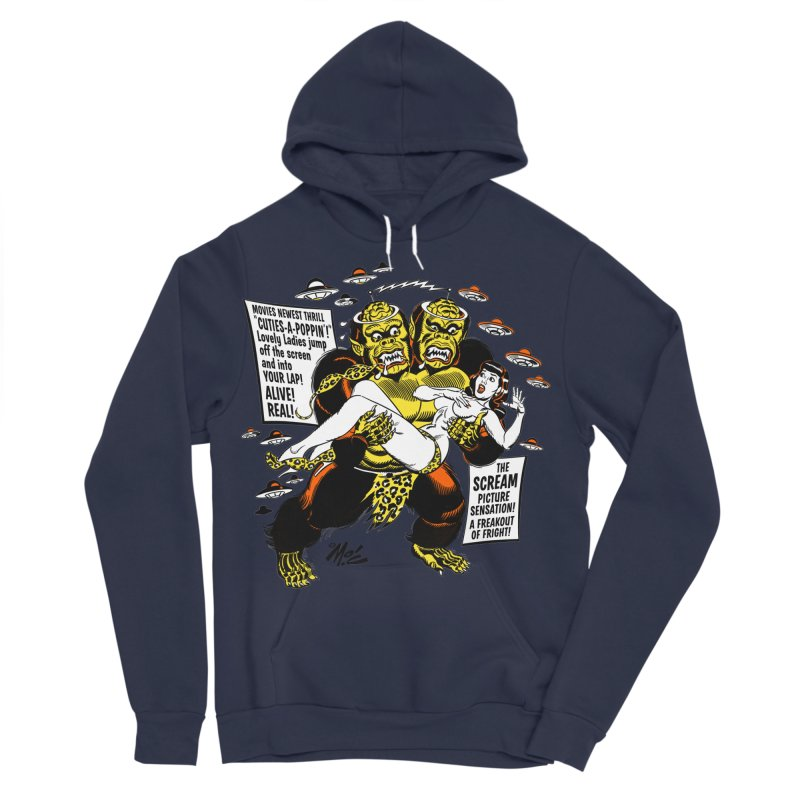 ALIVE! REAL! Men's Sponge Fleece Pullover Hoody by Mitch O'Connell
