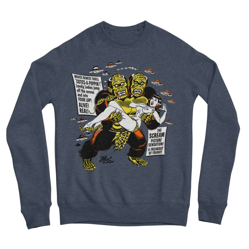 ALIVE! REAL! Men's Sponge Fleece Sweatshirt by Mitch O'Connell