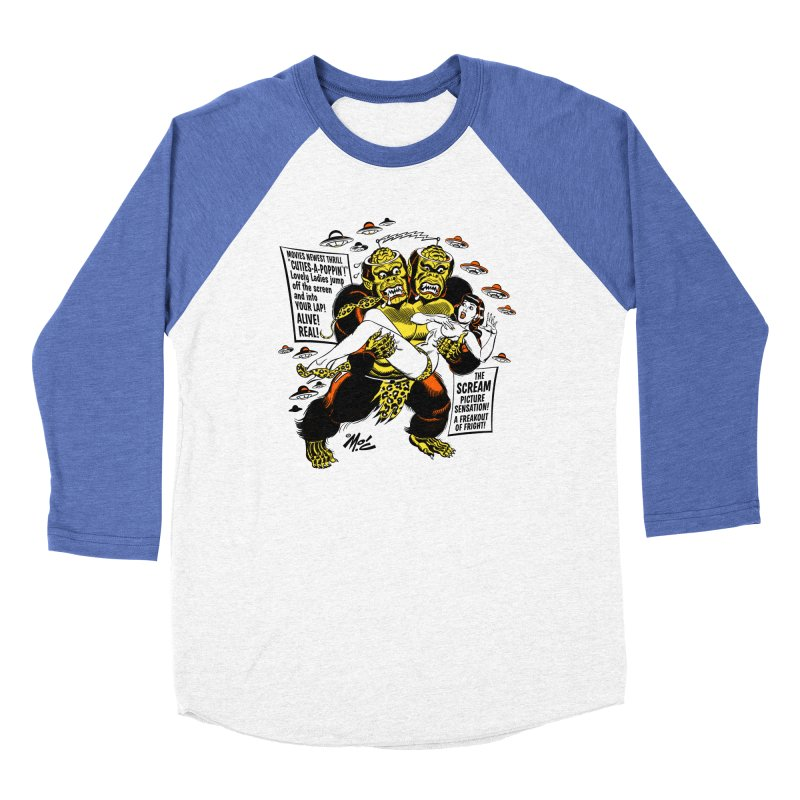 ALIVE! REAL! Men's Baseball Triblend Longsleeve T-Shirt by Mitch O'Connell