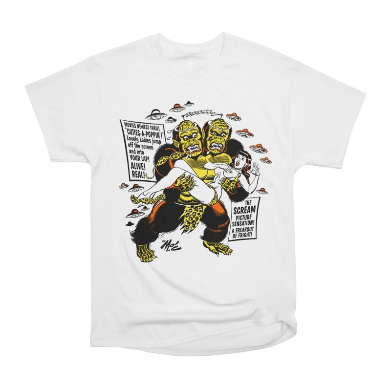 ALIVE! REAL! Men's Heavyweight T-Shirt by Mitch O'Connell