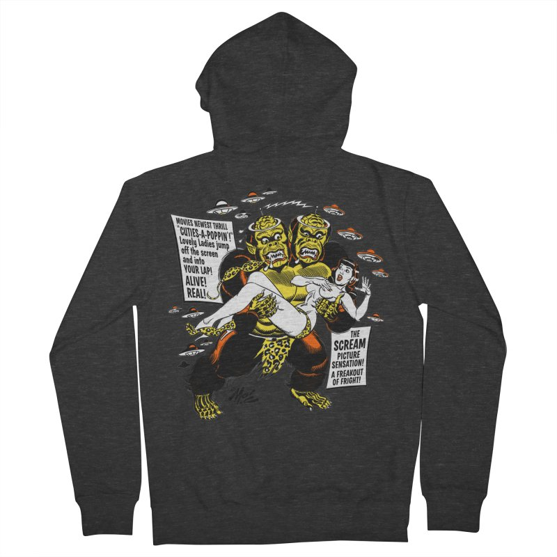 ALIVE! REAL! Men's French Terry Zip-Up Hoody by Mitch O'Connell