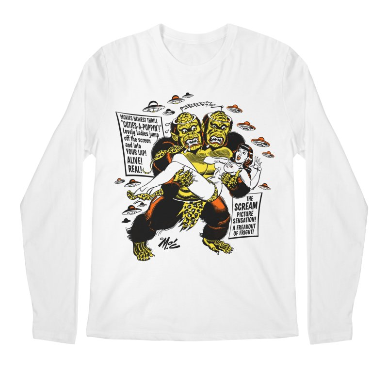 ALIVE! REAL! Men's Regular Longsleeve T-Shirt by Mitch O'Connell