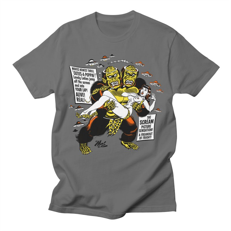 ALIVE! REAL! Men's Regular T-Shirt by Mitch O'Connell