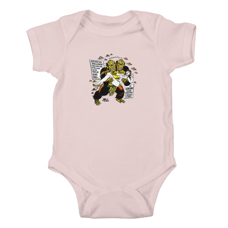 ALIVE! REAL! Kids Baby Bodysuit by Mitch O'Connell