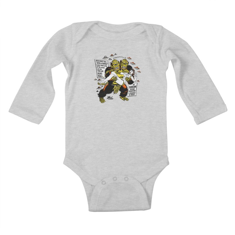 ALIVE! REAL! Kids Baby Longsleeve Bodysuit by Mitch O'Connell