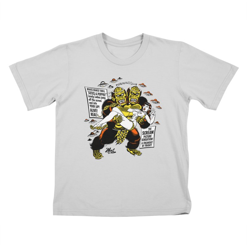 ALIVE! REAL! Kids T-Shirt by Mitch O'Connell