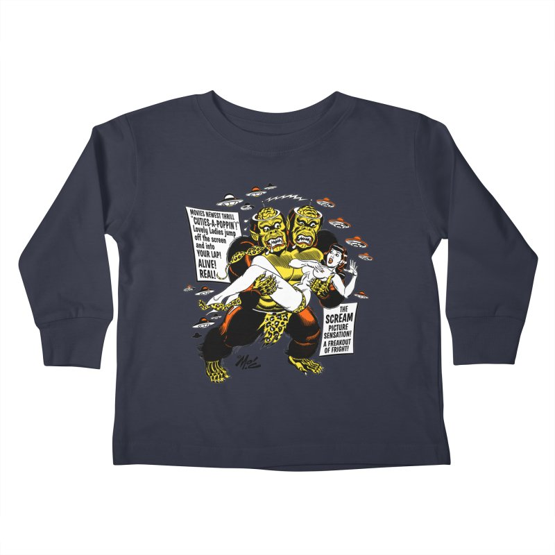 ALIVE! REAL! Kids Toddler Longsleeve T-Shirt by Mitch O'Connell