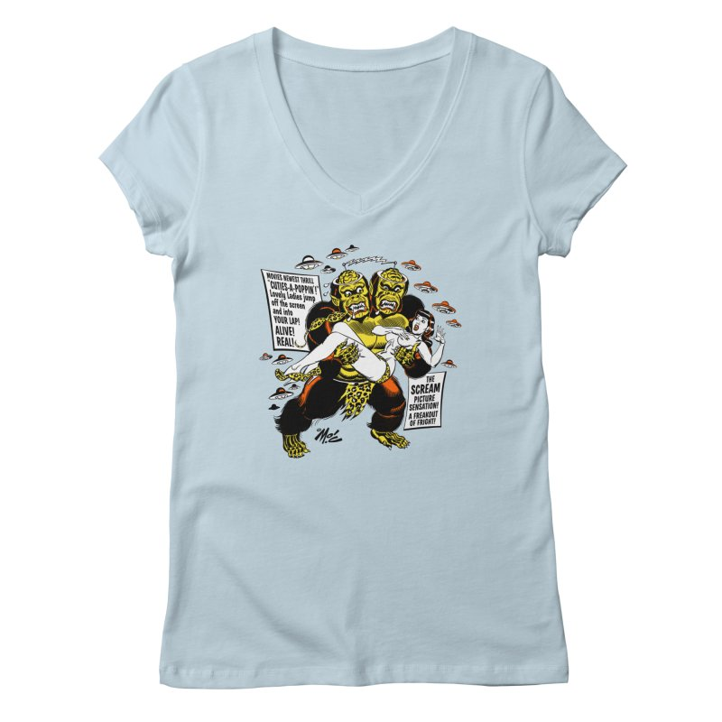 ALIVE! REAL! Women's Regular V-Neck by Mitch O'Connell