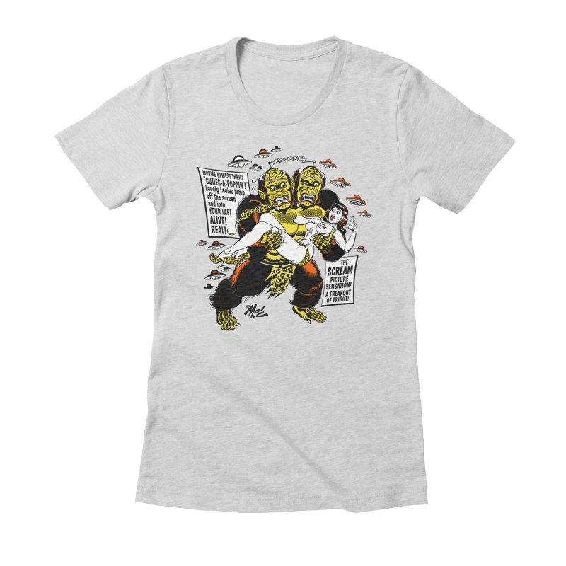 ALIVE! REAL! Women's Fitted T-Shirt by Mitch O'Connell