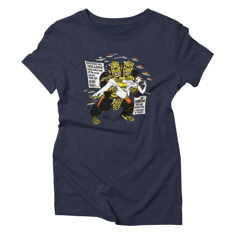 ALIVE! REAL! Women's Triblend T-Shirt by Mitch O'Connell