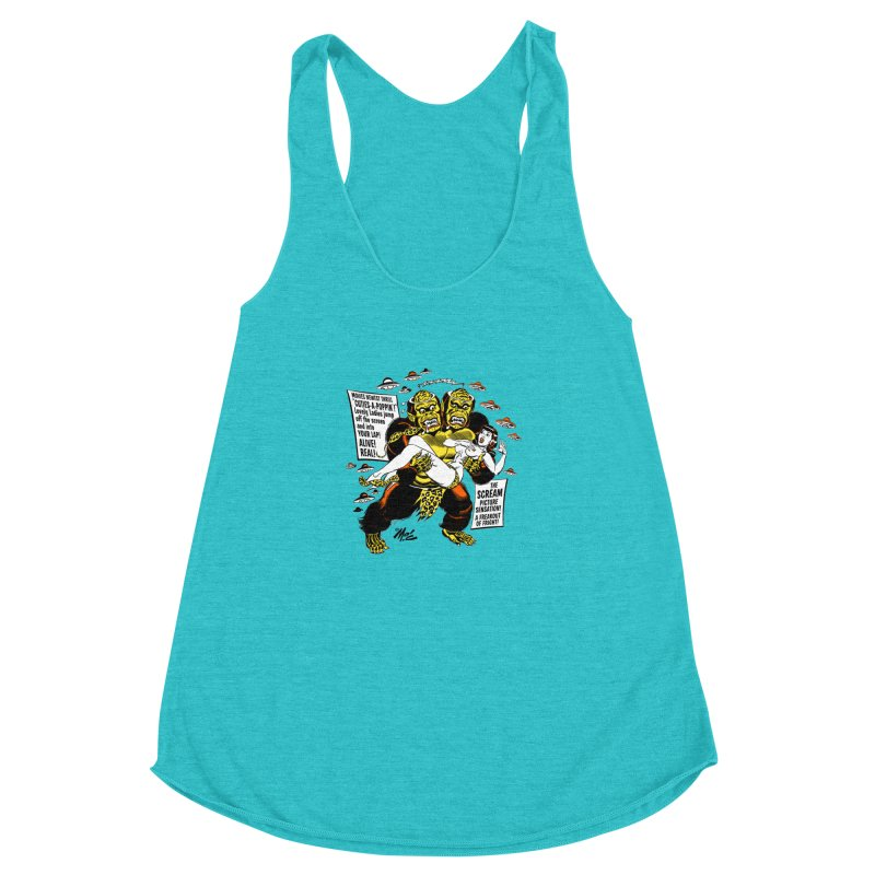 ALIVE! REAL! Women's Racerback Triblend Tank by Mitch O'Connell