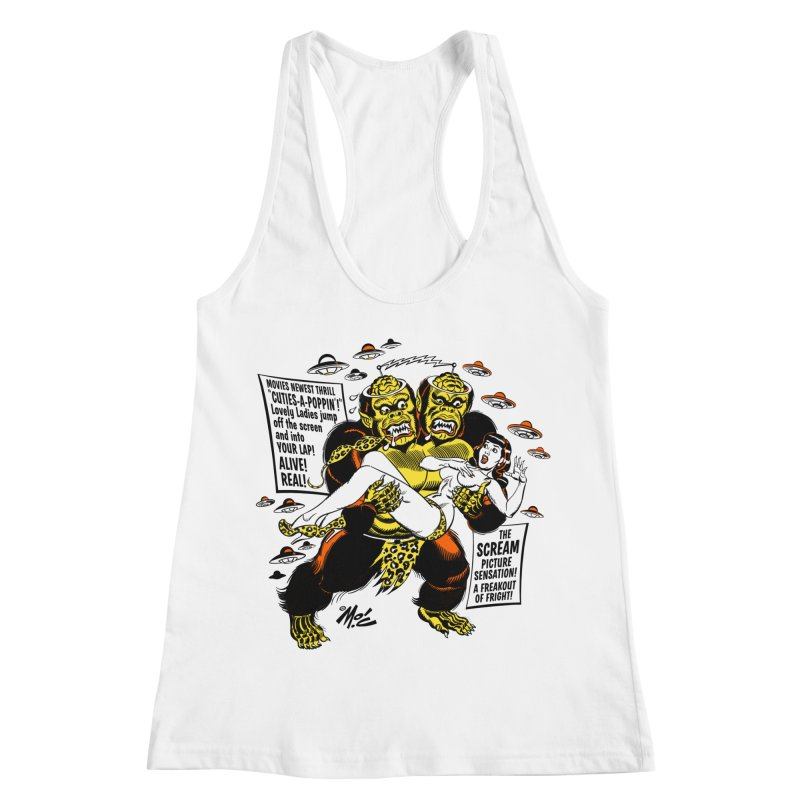 ALIVE! REAL! Women's Racerback Tank by Mitch O'Connell