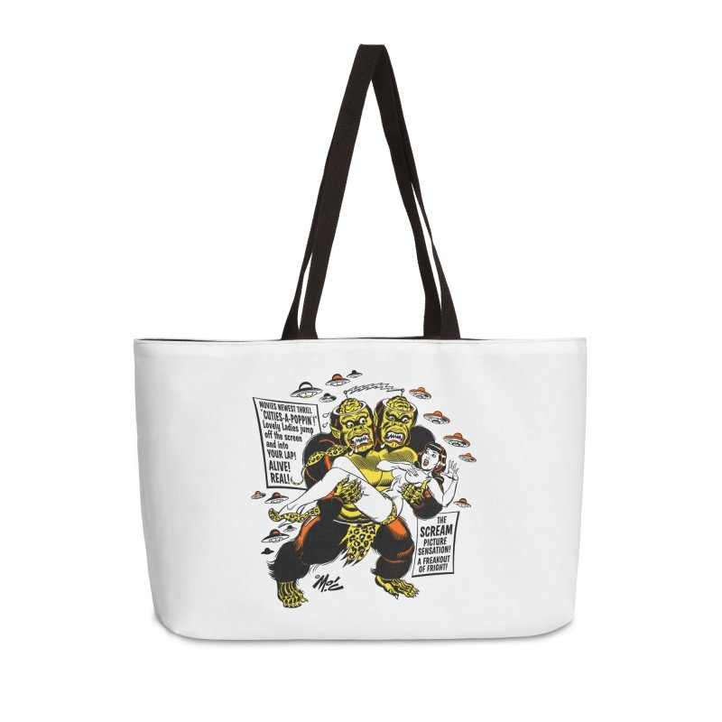 ALIVE! REAL! Accessories Weekender Bag Bag by Mitch O'Connell