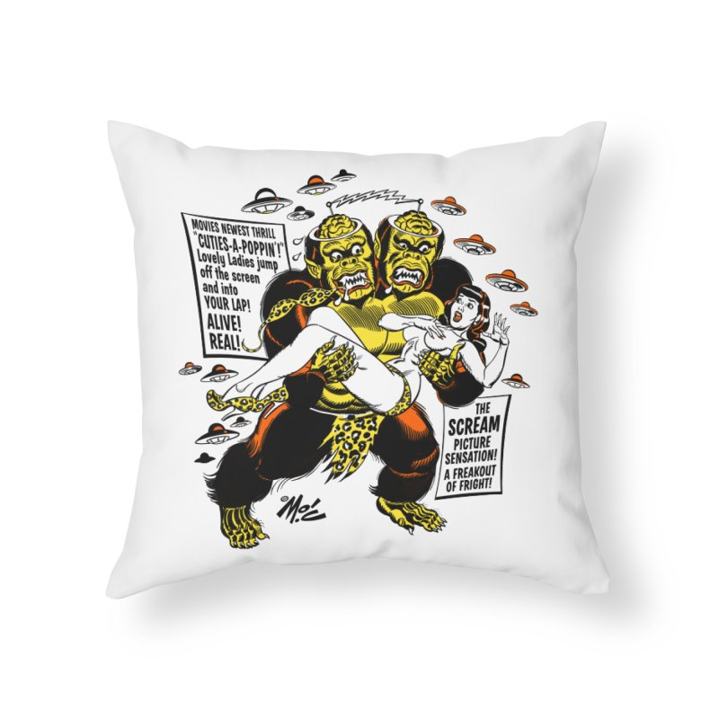 ALIVE! REAL! Home Throw Pillow by Mitch O'Connell