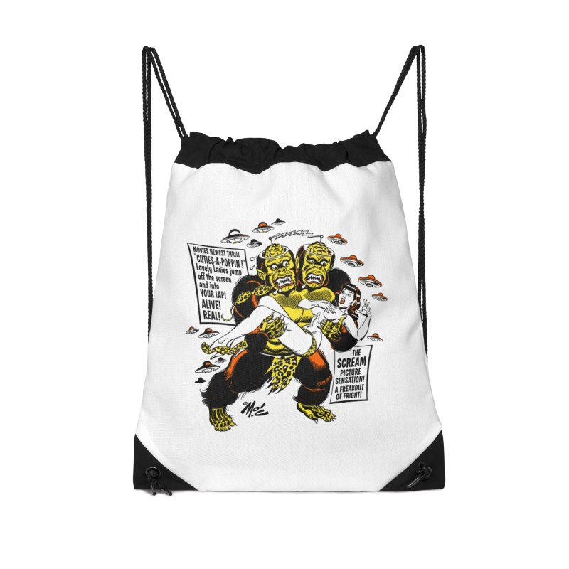 ALIVE! REAL! Accessories Drawstring Bag Bag by Mitch O'Connell